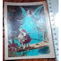 Фото-открытка дети, хранимые ангелом (чистая)