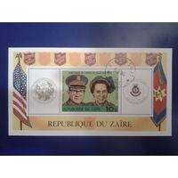 Конго, Заир 1980 100 лет армия спасения США в Заире блок Mi-8,5 евро гаш.