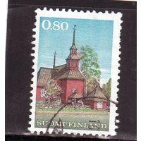 Финляндия.Ми-671. Герб Финляндии. Деревянная церковь в Кеуруу (1758). 1970.