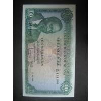 Кения 10 шиллингов 1969 AU!