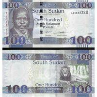 Южный Судан 100 фунтов образца 2019 года UNC p15