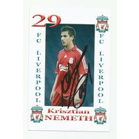 Krisztian Nemeth(Liverpool, Англия). Живой автограф на фотографии #2