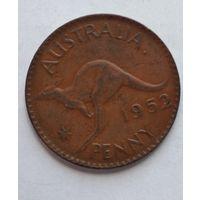 """Австралия 1 пенни, 1952 Точка после """"AUSTRALIA"""" 3-13-11"""