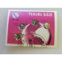 Панама 1966. Космос. 100-летие Международного союза электросвязи
