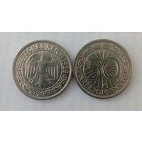 50 пфеннигов 1929год А