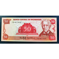РАСПРОДАЖА С 1 РУБЛЯ!!! Никарагуа 50 кордобов 1985 год UNC