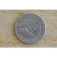 Никарагуа 10 сентаво 1928(серебро 0.800)