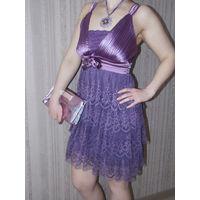 Обалденное фиолетовое нарядное платье