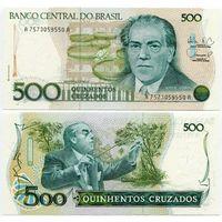 Бразилия. 500 крузадо (образца 1988 года, P212d, UNC)