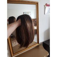 Парик, классическое каре, 30 см. Термостойкий. Отличное качество. Волосы выглядят очень натурально и имеют красивый естественный блеск. За счёт регулируемой сетки внутри парик сидит на голове удобно,