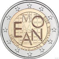 2 евро 2015 Словения 2000 лет римскому поселению Эмона UNC из ролла