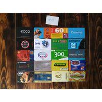 20 разных карт (дисконт,интернет,экспресс оплаты и др) лот 13