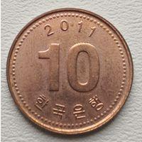Южная Корея 10 вон 2011