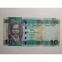 Южный Судан 10 фунтов 2015г UNC