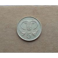 Кипр, 5 центов 1988 г.
