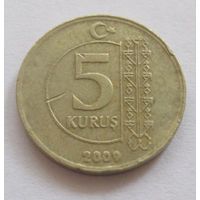 Турция 5 куруш 2009