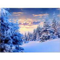 Картина алмазная вышивка зима