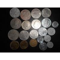 Монеты Польша 21 монета без повторов