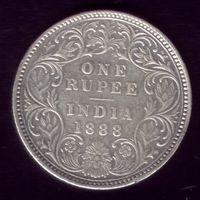 1 Рупия 1888 год Британская Индия