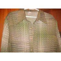 Рубашка длинная, модель приталенная, на р-р 56-58