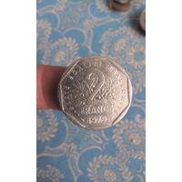 404# 2 франка 1979. франция
