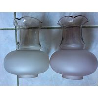 Плафон для Люстры бра торшера Настольной Лампы СССР и не  только Цвет розовый и белый ( Цена указана за один плафон)