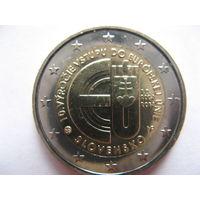 Словакия 2 евро 2014г. 10 лет вхождению Словакии в Евросоюз. (юбилейная) UNC!