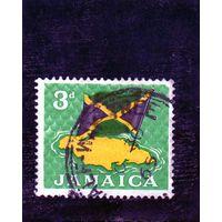 Ямайка.Флаг.Карта.