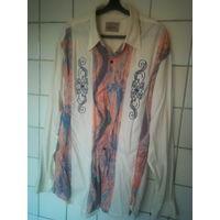 Рубашка с цветными вставками
