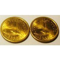 1 доллар 2000 Д или Р на выбор США