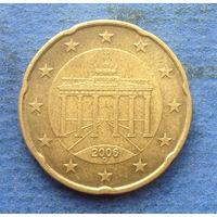 Германия 20 евроцентов 2006 D