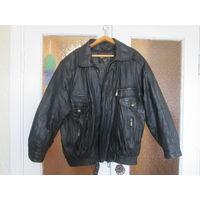 Куртка мужская кожаная тёплая  56 р