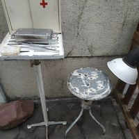 Стул винтовой, медицинский в лофт индустриальном стиле СССР.