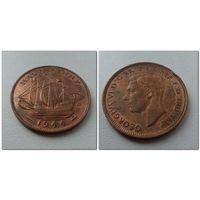 1/2 пенни Великобритания 1944 г.в. KM# 844, 1/2 PENNY, из коллекции