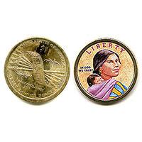 США ЦВЕТНОЙ доллар 2010 САКАГАВА АЦ UNC