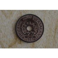 Родезия и Ньясаленд 1 пенни 1957