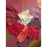 Детские вещи для девочки, 4-6 лет, пакетом за 20 руб