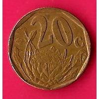 46-03 ЮАР, 20 центов 1995 г.