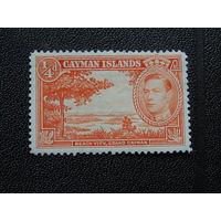 Каймановы острова 1938 г. Король Георг V.