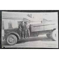 Фото на грузовом автомобиле МАЗ-205. 1940-50-е. 10х16 см
