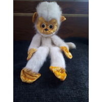 Плюшевая игрушка Белая обезьянка СССР