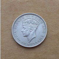 Британская Малайя, 20 центов 1939 г., серебро, Георг VI (1936-1952)