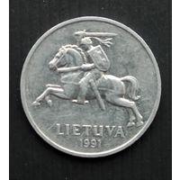 Литва 2 цента 1991 г.