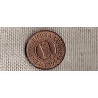 Сьерра-Леоне 1/2 цента 1964/фауна/рыбы/(Qu)
