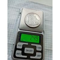 10 франков 1965 года. AG 0.900