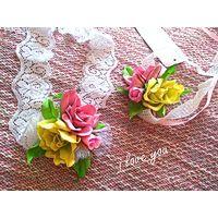 Свадебный комплект ''Чайные розы''