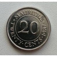 20 Центов 1987 (Маврикий)