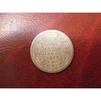 2 анна 1878 год Британская колония Индия (серебро)