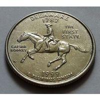 25 центов, квотер США, штат Делавер, P  D