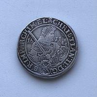 Талер Саксонский 1611 г. (Германия вес-28.78) РЕДКИЙ отличный